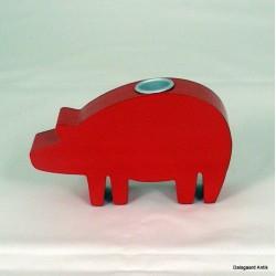 Rød gris lys