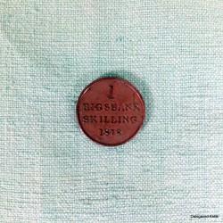 1 rigsbankskilling 1818