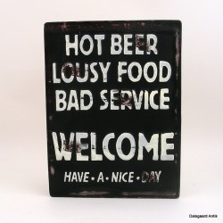 Hot beer lousy food bad service...