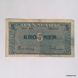 5 krone fra 1940'erne
