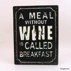 A meal without a wine....