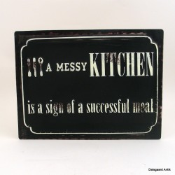 A messy kitchen.....