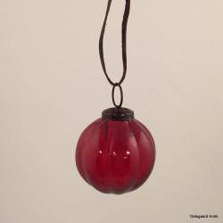Julekugle rød/lilla