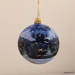 Julekugle blå