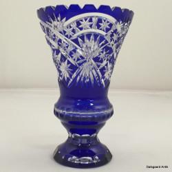 Blå krystalvase