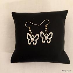 Øreringe med sommerfugle