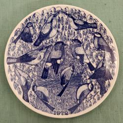 Platte med fugle