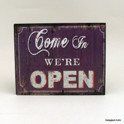 Come in we´re open