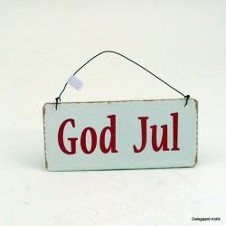 God Jul skilte