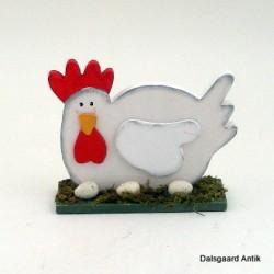 Høne med æg
