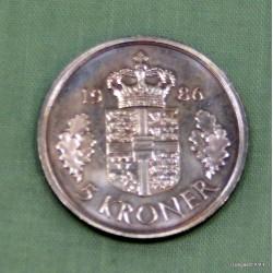 5 krone 1986