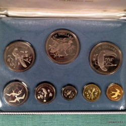 Belize proof set 1974