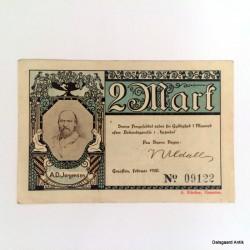 2 mark nødpengeseddel 1920